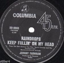 JOHNNY FARNHAM Raindrops Keep Fallin´On My Head *AUSTRALIA ORIGINAL 60s SINGLE*