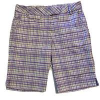 Puma Womens Size 6 Sport Lifestyle Golf Shorts Size 6 Purple Plaid