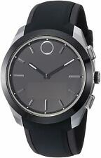 Movado Women's Bold Motion 43mm Silicone Band Steel Case Quartz Watch 3660012