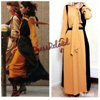 ZARA NEW COMBINED PLEATED LONG DRESS SIZE M