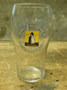 Haigerlocher Schlossbräu Balingen Stuttgart altes Bierglas Glas 0,3 L