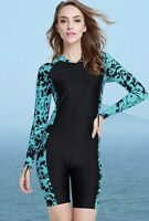 Micosuza Women's One Piece Surf Swim Suit Wet Suit Long Sleeve Body Suit