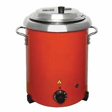 Buffalo GH227 Red Soup Kettle With Handles