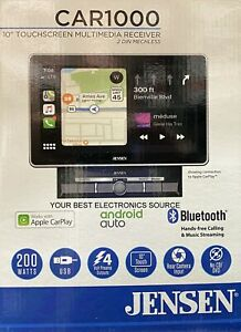 """NEW Jensen CAR1000 10.1"""" Large Touchscreen LCD w/ Apple Carplay, Android Auto"""