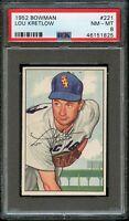 1952 Bowman BB Card #221 Lou Kretlow Chicago White Sox ROOKIE PSA NM-MT 8 !!!
