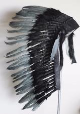 Y77coiffe indienne gris moyen warbonnet de style amérindien