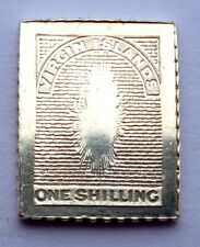 Virgin Islands One Shilling Stamp 1867 - 1868 Sterling Silver Proof (Τ14,1)