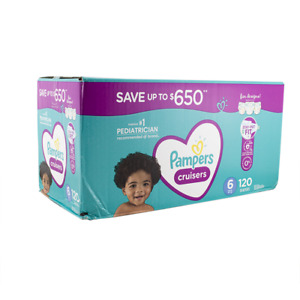 Pampers Cruisers Diapers Size 6 - 120 ct. (35+ lb.)