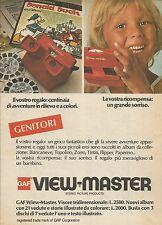 X9982 GAF View Master - Pubblicità 1976 - Advertising