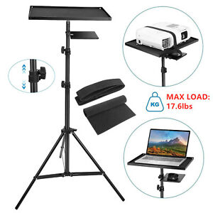 Universal Adjustable Projector Tripod Stand w/ Tray for Laptop Camera Outdoor