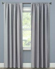 "Project 62- Henna Blackout Rod Pocket Curtain Panel, Gray, 63"" x 50"" Qty x2"