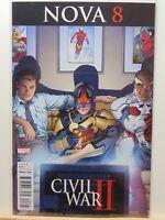 Nova #8 Variant Edition Civil War II Marvel Comics vf/nm CB2419