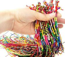 10Pcs Wholesale Bulk Strands Handmade Braid Friendship Cords Bracelet Gift # BE