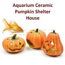 Pumpkin Shelter House Articraft Aquarium Ornament Small Shrimp Fish Tank Decor