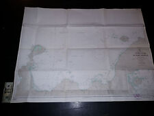 Antique Vintage US Navy Nautical Chart Aeronautical Map  Lolobau Island  Pacific