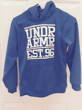 Under Armour Hoodie Size YM blue Excellent Condition