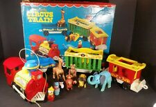 Vintage Fisher Price  Little People Circus Train 991 Complete In Box 1973 Nice