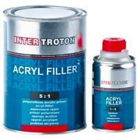 1L HS 5:1 Schwarz Füller Grundierung 2K Acryl Primer Filler Härter Troton