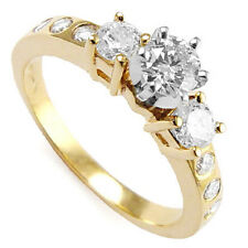 14k Two Tone Gold diamond Engagement Ring .95 TCW  R992.