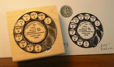 """P7 Vintage phone dial 2x2"""" Wm rubber stamp"""