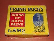 Vintage 1930'S FRANK BUCK'S BRING 'EM BACK ALIVE GAME - RARE
