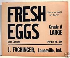 Fachinger Bulk Egg Carton Box Label Lanesville Indiana