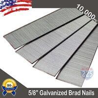 "5/8"" Inch 18GA. Gauge Chisel Point Galvanized Finish Brad Nails 10,000 Count US"