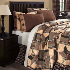 FARMHOUSE COUNTRY PRIMITIVE BINGHAM STAR PATCHWORK QUILTED BEDDING COLLECTION