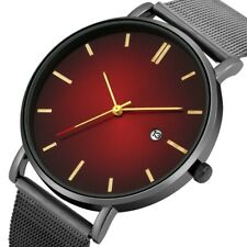 Novel Men Watch Mens Quartz Analog Wristwatch Black/Silver/Gold Mesh Steel Strap