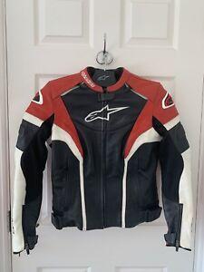 Alpinestars Stella Women/Ladies Gp PlusR Leather Jacket Red/White/Black US8 UK10