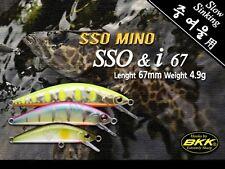 Leurre poisson nageur sinking SSO MINO SSO & I 67 PAYO 67mm BKK pêche truite
