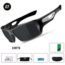RockBros Sports Polarized Eyewear Goggles Full Frame Sunglasses Black Gray