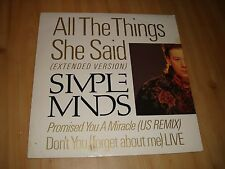 """SIMPLE MINDS-ALL THE THINGS SHE SAID (VIRGIN 12"""")  EXTENDED VERSION"""