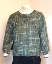 Gorgeous Green Boucle Poncho Cape Style Jacket by Tie Rack - Size S-M - BNWOT!