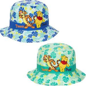 Official Disney Winnie The Pooh Bucket Hat Boys Summer Beach Pool Outdoors