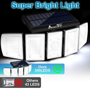 Solar Security Lights Outdoor 1100LM LED Motion Sensor IP65 Waterproof