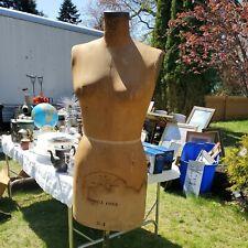 New listing Vintage 1948 Wolf Ny Model Dress Form Size 12 Women Mannequin Cast Iron Base
