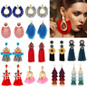 Women Bohemian Earrings Long Tassel Fringe Boho Dangle Earrings Gifts Jewelry
