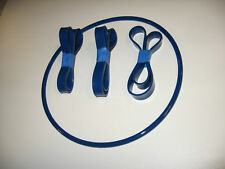 3 BLUE MAX BAND SAW TIRES AND 1 ROUND DRIVE BELT FOR UNITED BY NEWCORP BS-375