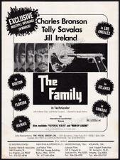 THE FAMILY__Original 1973 Trade print AD / promo__CHARLES BRONSON__TELLY SAVALAS