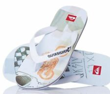 Quiksilver Molokai Screenline Flip Flops White UK 6 EU 40 LN086 HH 03