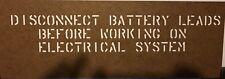 M151 ,M151A1,M151A2 Mutt Jeep Under Hood Stencil New