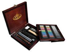 Royal Langnickel Artist Premier Deluxe Morbido Pastello e matita in legno Box Set 56PC