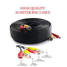 BNC DC CCTV Security Video Camera DVR Data Power Extension Cable 40 Meter