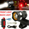 USB Rechargeable 15000LM T6 LED MTB Bicycle Bike Front Rear Tail Light Headlight
