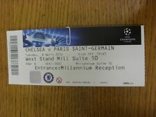 08/04/2014 Biglietto: Chelsea V PARIS SAINT GERMAIN Champions League []. grazie per