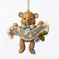 Jim Shore Baby's First Christmas Blue Bear Ornament ~ 4053852