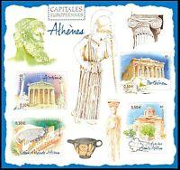 2004 FRANCE BLOC N°77** BF Capitales européennes ATHENES GRECE, SHEET MNH