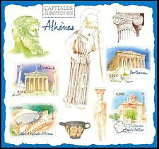 2004 FRANCE BLOC N°78** BF Capitales européennes ATHENES GRECE, SHEET MNH