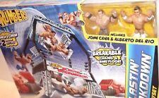 ✰ WWE Blastin' Breakdown Ring Cage John Cena & Del Rio figures Rumblers Sealed